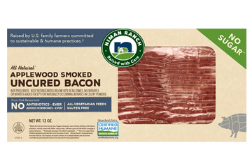Niman Ranch Uncured Applewood Smoked Bacon – No Sugar 12oz