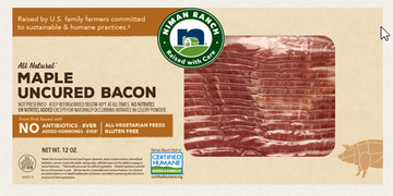Niman Ranch Bacon, Center Cut, Maple, Uncured - 12 Ounces