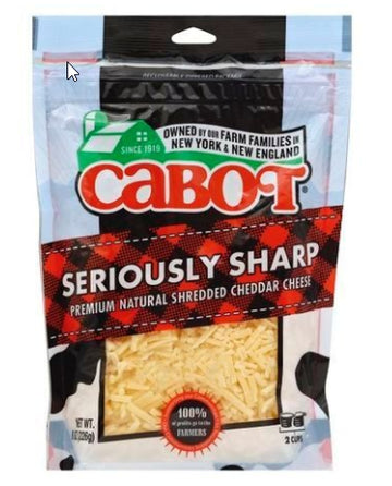 Cabot Cheese, Seriously Sharp Cheddar, Shredded