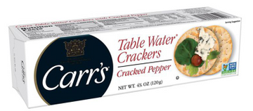 Carr's Table Water Crackers Cracked Pepper
