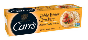 Carr's Table Water Crackers Roasted Garlic and Herbs