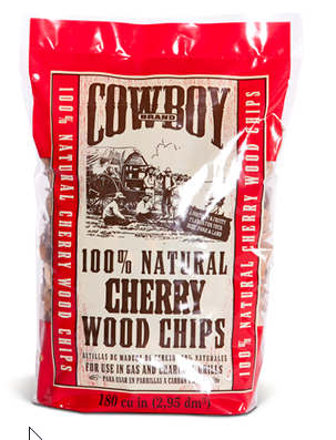 Cowboy® 100% All Natural Cherry Wood Chips- 2 lb bag