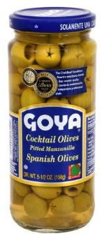 Goya Pitted Manzanilla Spanish Cocktail Olives, 5.5 oz.