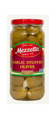 Mezzetta Stuffed Garlic Olives- 10 oz.