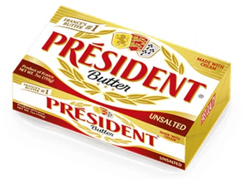 President Butter, Unsalted - 7 Ounces