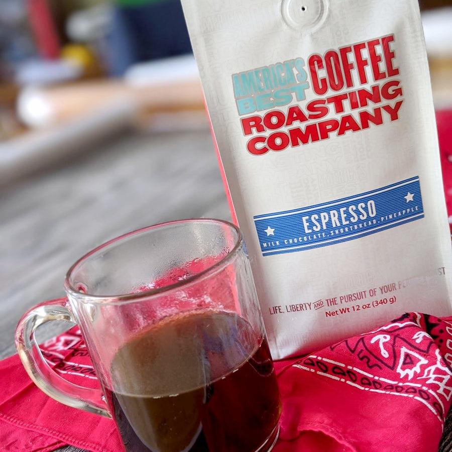 Award-winning Espresso that is medium roast. Available in Whole Bean and Ground. Non GMO.