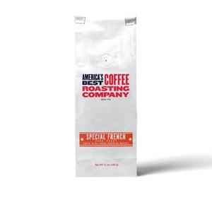 Made from 100% Arabica beans, Special French Roast is dark roast that is bold but not bitter. Available in whole bean or ground. Non-GMO.