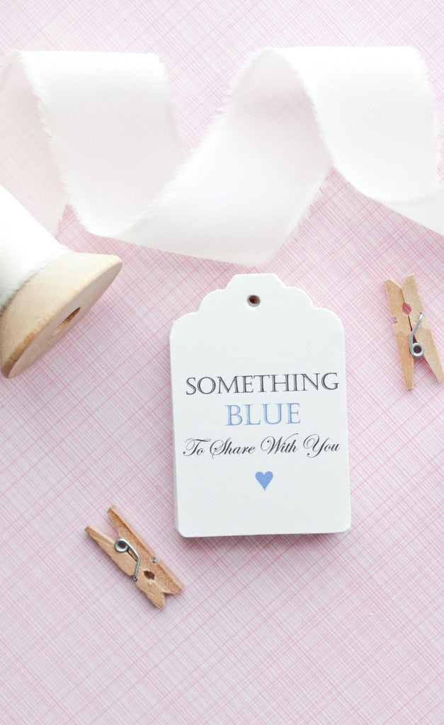 Something Blue Favor Tags