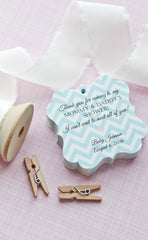 Chevron Baby Shower Tags