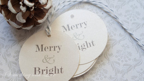 Holiday Gift Tags - Merry & Bright