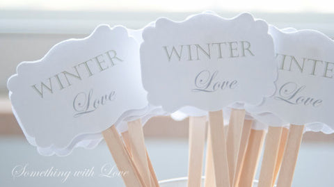 Winter Love Drink Stirrers