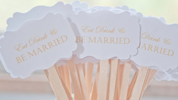 Eat Drink & Be Married Drink Stirrers