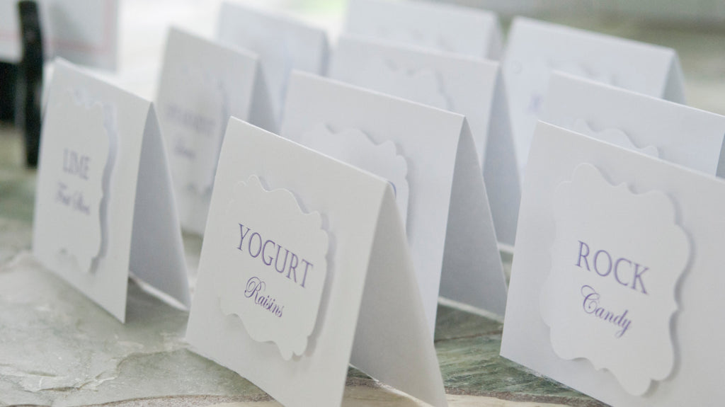 Tented Candy Bar Labels