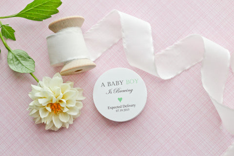 """A Baby Boy"" is Brewing Favor Tags"