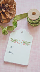Holiday Gift Tags - Floral Wreath