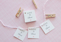 Love is Sweet Favor Tags