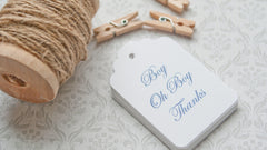 Baby Boy Favor Tags