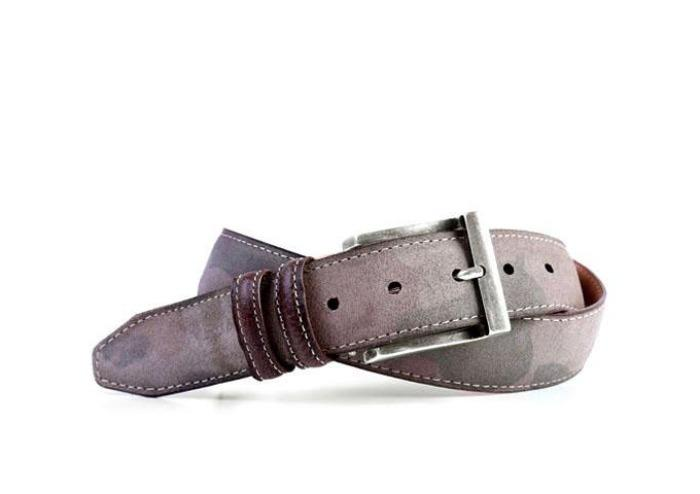 Camo Bill Water Repellent Suede Belt