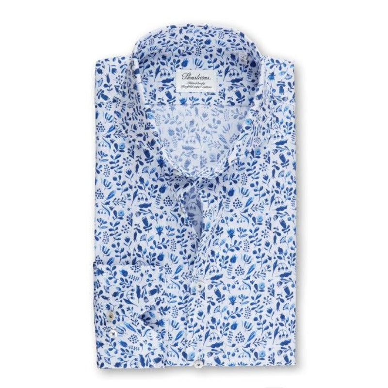 Royal Blue Floral Shirt