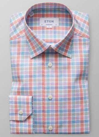 Multicoloured Checked Twill Shirt