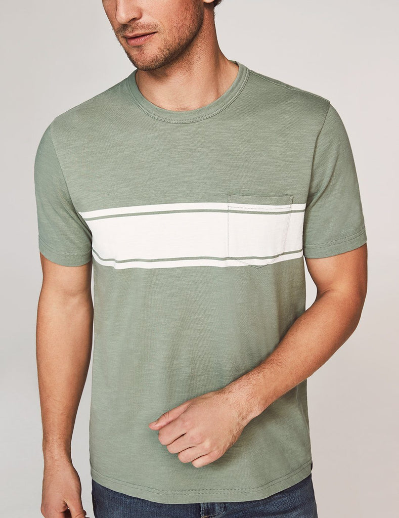 Short-Sleeve Surf Stripe Pocket Tee