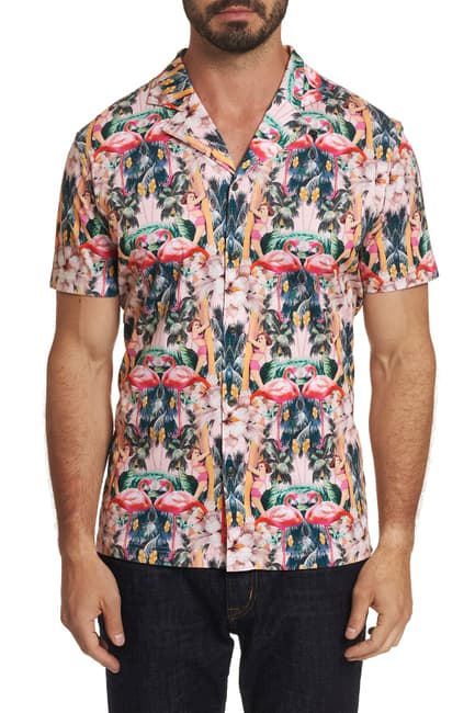 Flamingo Camp Short Sleeve Shirt