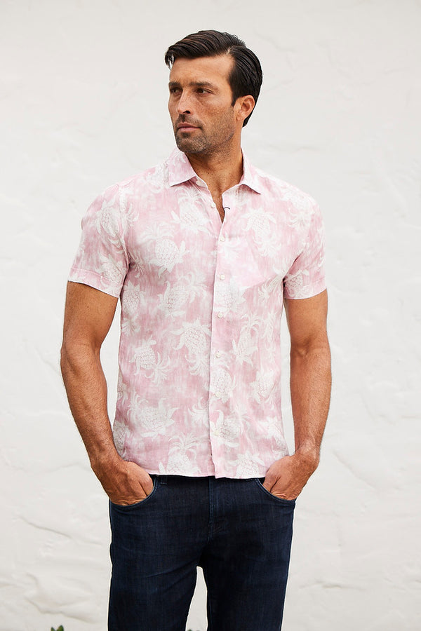 Pink Pineapple Short Sleeve Shirt