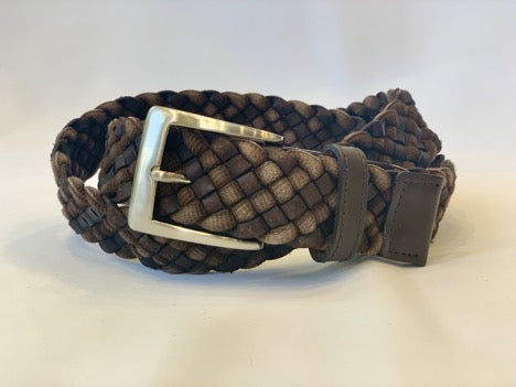 Leather and Cloth Braided Belt