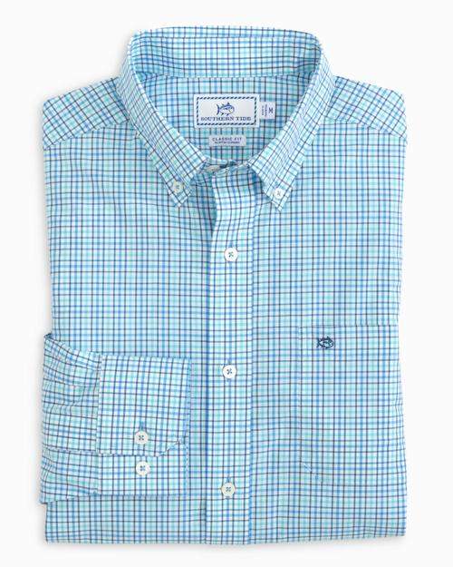 Skipjack Micro Multicheck Button Down Shirt