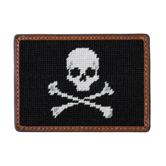 Jolly Roger Needlepoint Credit Card Wallet