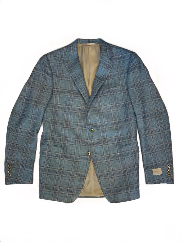 Teal Windowpane Bennett Jaket