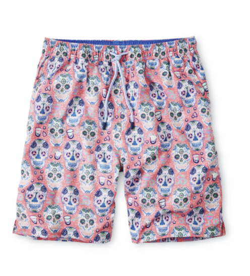 Sugar Skulls and Tequila Swim Trunk