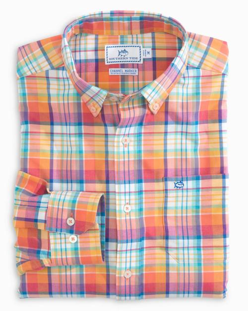 Channel Marker Mixed Plaid Sport Shirt