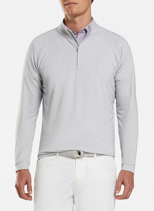 Natural Touch Striped Quarter-Zip