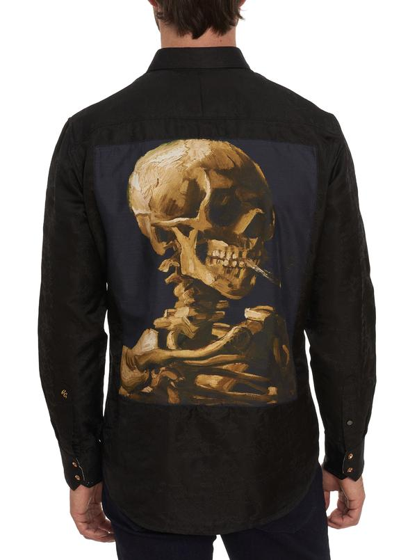 Limited Edition Skeleton Head Silk Sport Shirt
