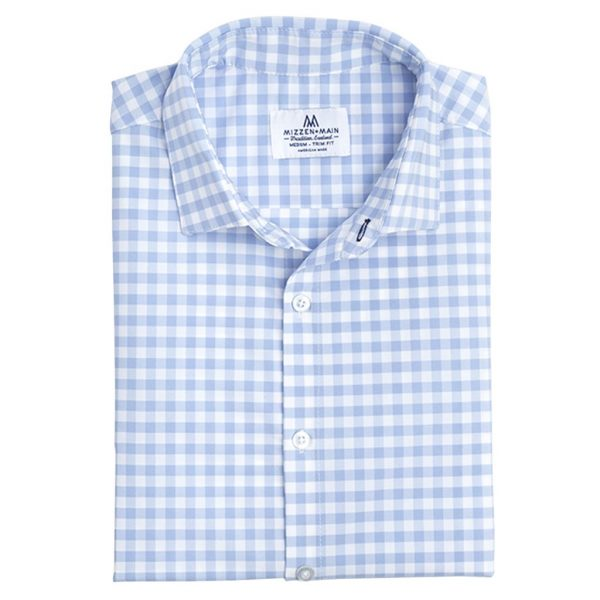 Classic Fit Blue Check Shirt