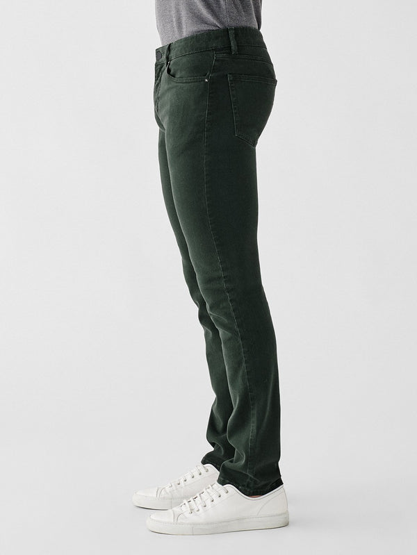 Russell Slim Straight Denim in Dark Emerald