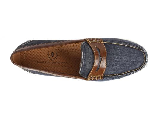 Seaside Washed Canvas Penny Loafer