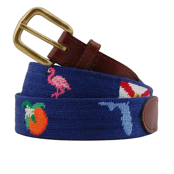 Florida Life Needlepoint Belt