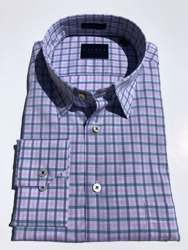 Pink and Blue Check Shirt