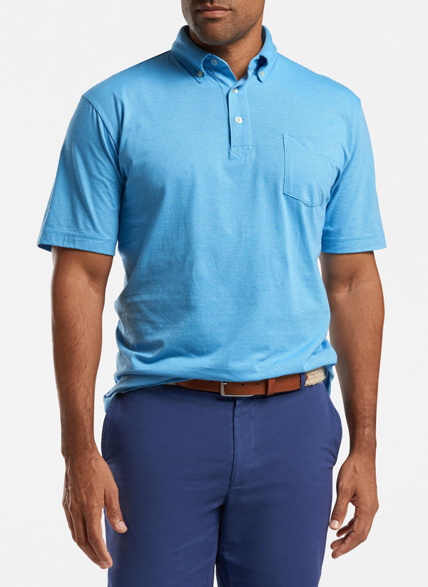 Shark Island Aqua Cotton Polo