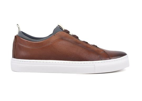 Beckett Hand-Finished Saddle Leather Sneakers