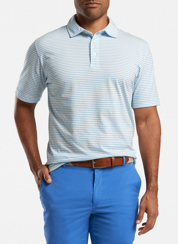 Bar Beach Aqua Cotton Polo