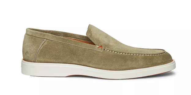 Natural Suede Loafer