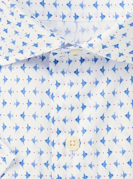Catch Of The Day Cotton-Blend Sport Shirt