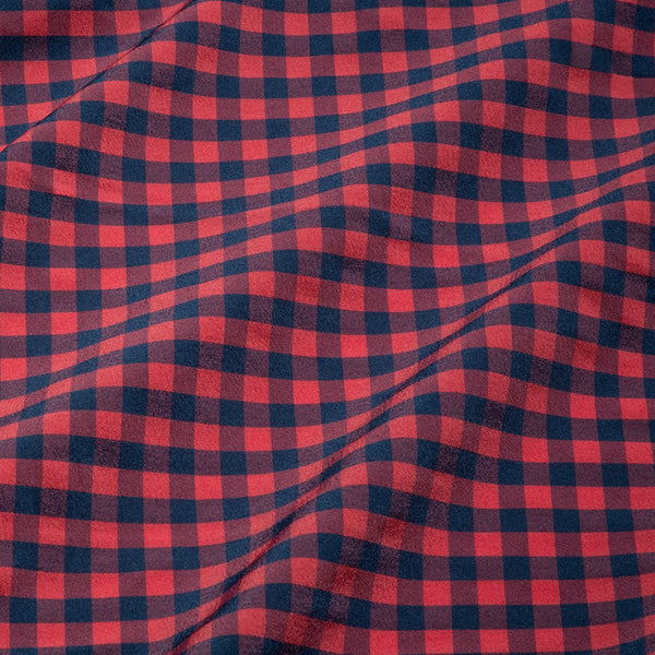 Red & Navy Gingham Leeward Dress Shirt