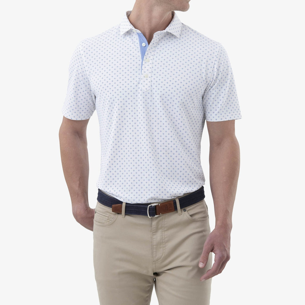 Hinton Printed PREP-FORMANCE Pique Polo