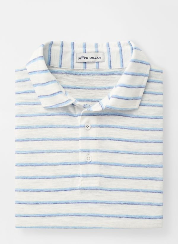 Albemarle Striped Slub Polo