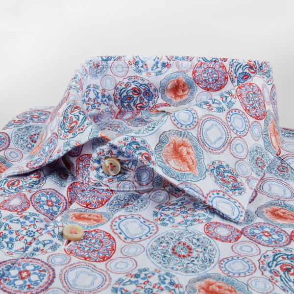 Medallion Linen Shirt