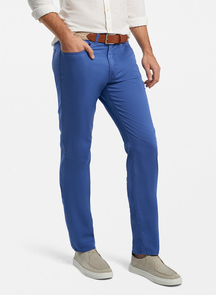 Broken Twill Cotton-Blend Five-Pocket Pant
